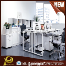 Modern office workstation design for 4 person