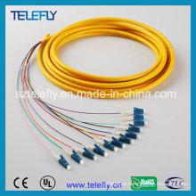 LC 12 cabo de fibra óptica cabo de remendo