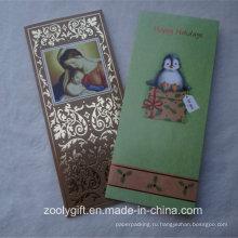 Pattern Золотая фольга Штамповка Текстурированная бумага фестиваль поздравительных открыток