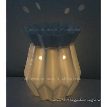 Aquecedor elétrico translúcido da vela da luz do diodo emissor de luz com controlador remoto