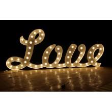 Пользовательские свадьбы письма любви Marquee знаки металла, старинные лампы письма знак, пользовательские Marquee письмо знак
