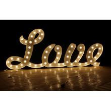 Carta de lâmpada para Wending Love