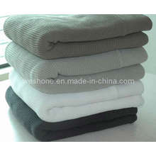 100% Soft Cotton Knitted Blanket