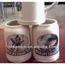 270/650/950ml ceramic beer mug with different logo