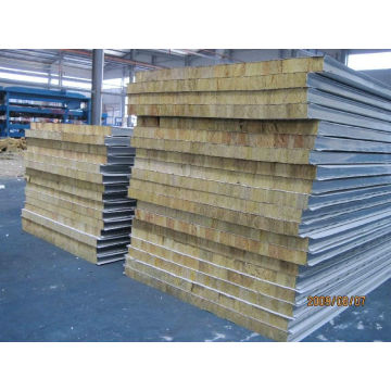 50mm tjock 60kg / m3 Density Rockwool Väggpanel