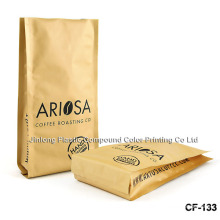 Plastic Coffee Packaging Bag with Bottom Gusset
