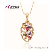 Fashion Xuping Elegant Gold-Plated Jewelry aleación colgante de flores con CZ Diamond - 30703