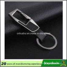 O metal feito sob encomenda o mais quente PU Leather Keychain