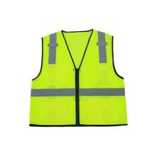 ANSI/ISEA fluorescent vests,100% polyester mesh zipper closure 3Mreflective running safety vests