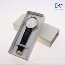 Sencai personnalisé impression bracelet bracelet de montre boîte en papier noir EVA insert