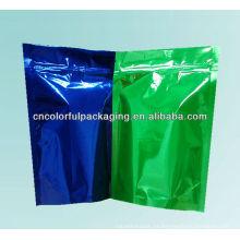 o saco de empacotamento plástico do alimento / embalagem para sacos / segurança do laço do fecho de correr imprimiu o saco