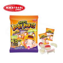 Halloween Gummi Partes do corpo Jelly Soft Candy
