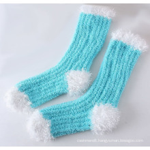Winter Super Warm Feather Yarn Thick Floor Socks (WA808)