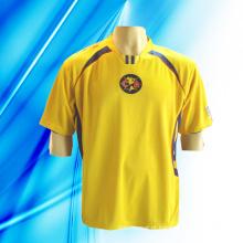 100% poliéster man mangas curtas tingidas Soccer Jersey