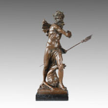 Mythology Statue Sea God Poseidon Bronze Sculpture TPE-821