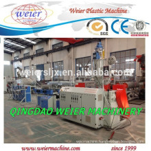 PVC corrugated pipe extrusion line with steel wire passing inside
