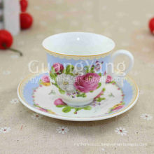 220ml New Bone China porcelain coffee set with welcomed design