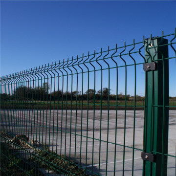 Triangle Bending Pvc Coated Svetsad Wire Mesh Fence