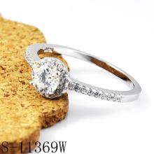 Joyería de moda Anillo de diamantes de plata 925