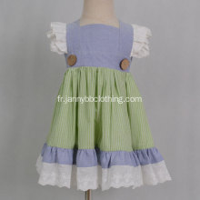 2019 Wholesale remake dress boutique stripe baby girls dress
