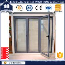 Puerta bi-plegable / bifolding de aluminio interior 6065