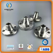 Bride forgée de cou de soudure de l'acier inoxydable F304 / F304L avec le service d'OEM (KT0267)