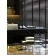 Wooden Grain Venetian Blinds Black