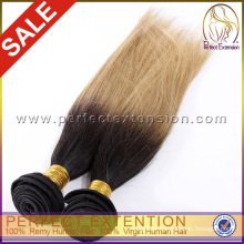 Hot sale colored brazilian human hair two tone hair weave