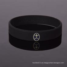 Fábrica de diseño especial de silicona de silicona personalizada impresa wristband