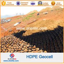 Geocélulas de HDPE de plástico usadas como cais de parede independente e quebra-mar