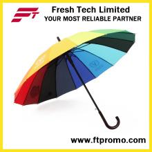 Empresa de OEM Auto presente aberto guarda-chuva reto
