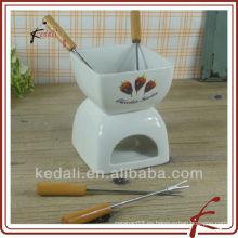 TOS026-4.5-A303-2 La fondue caliente del chocolate de la venta fijó con la bifurcación