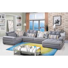 Sofá de tela para muebles de salón Sofá de esquina para 3 plazas