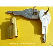 Cerradura de cilindro de latón, cerradura de remolque, cerradura de colectores pequeños Al-1104
