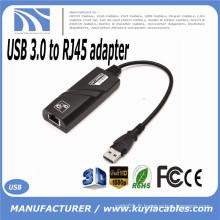 USB 3.0 à RJ45 100 / 1000Mbps Gigabit Ethernet Carte réseau LAN Splitter Adapter