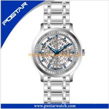 Hochwertige Edelstahl Armbanduhr wasserdichte Quarzuhr