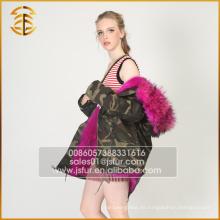 2017 Neue Design-Frauen-echte Jacke mit Kapuze Winterpelz Parka