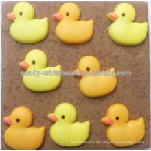 Gelbe Ente Kork Bord gewidmet Stifte