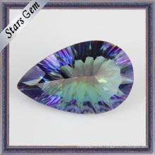Excelente Millennium Cut Pear Shape Hermosa galvanoplastia color CZ Jewelry