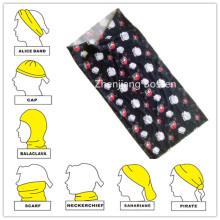 Custom Made Skull Printed Headwrap Multifunctional Biker Headband Head Scarf