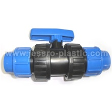 PP COMPRESSION DOUBLE UNION VALVE