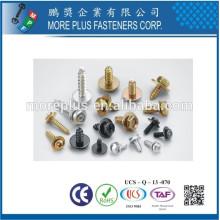 Hecho en Taiwán Phillips Pozi ranuró los tornillos principales de la cabeza del botón y los modificó para requisitos particulares con las arandelas de la onda de la terminal tornillos SEMS montados