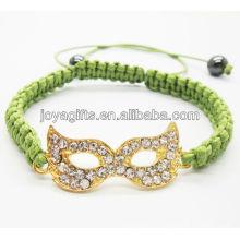Bracelete de shambala de liga de olho de ouro