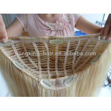 excellent human hair half wigs, 100% human hair 3/4 wig, lace wig