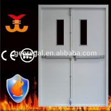 porta de emergência de saída dupla à prova de fogo