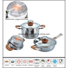 Copper Core Impact Bottom Stainless Steel Cookware Set