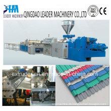 PVC-gewölbte Roofing-Brett-Verdrängungsmaschinen der Plastikbrett-Maschinerie