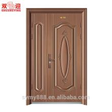 Дизайн стали неравные отверстия двойной двери входная дверь