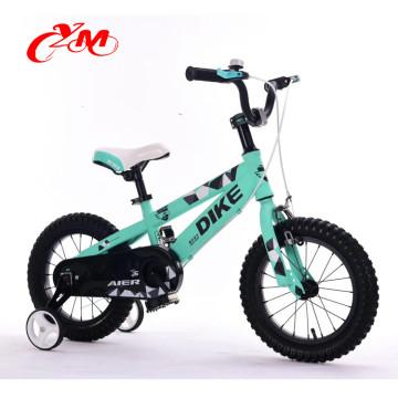 Alibaba novo modelo 4 roda pedal crianças bicicleta / alta qualidade barato 12 14 16 segurança crianças bicicleta / rodas de ar crianças de 0-3 anos de idade bicicleta