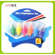 6PCS Mini jeu de stylos surligneur (LH-3208)